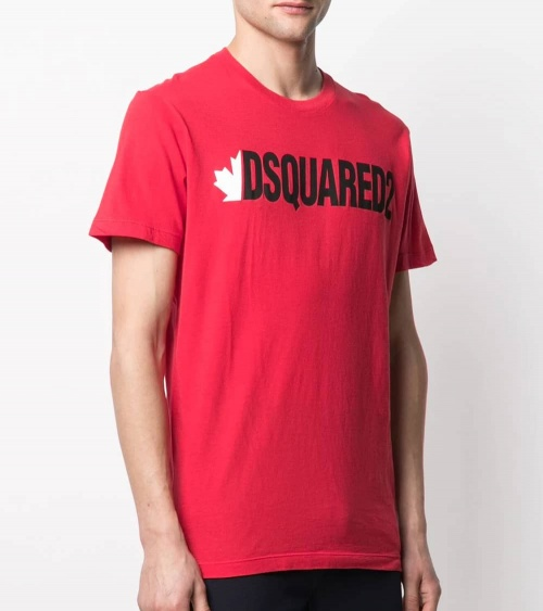 Dsquared2 Camiseta Roja Canadiense lateral