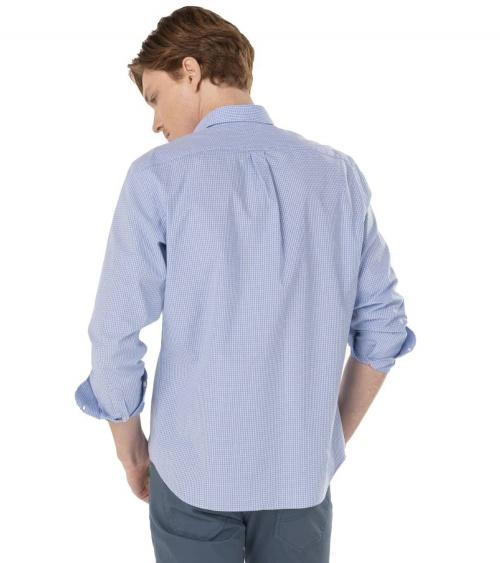 Harmont & Blaine Camisa Mini Vichy Sky espalda