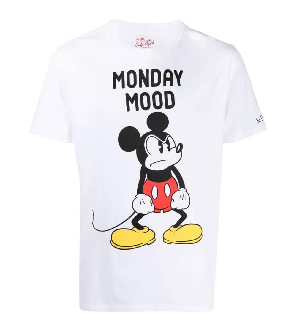 MC2 Saint Barth Camiseta Blanca Mickey Mood