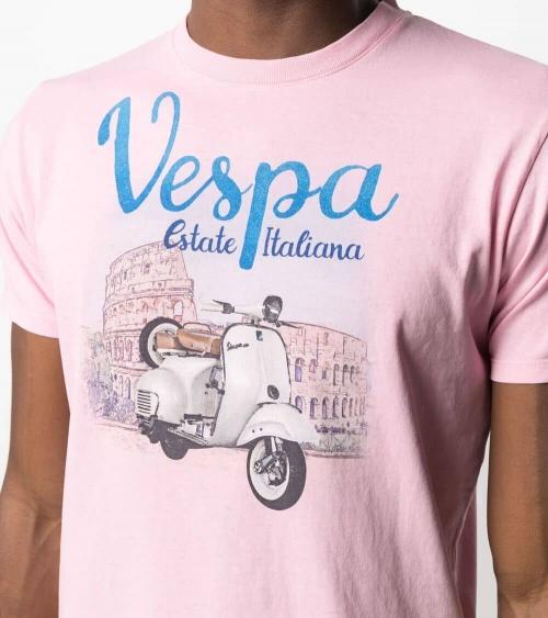 MC2 Saint Barth Camiseta Rosa Vespa Roma detalle