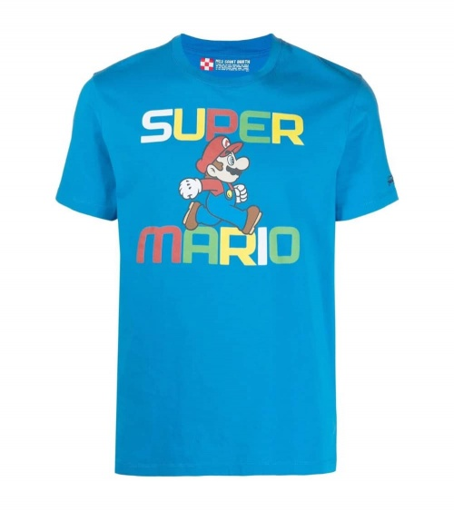 MC2 Saint Barth Camiseta Azul Marino Run