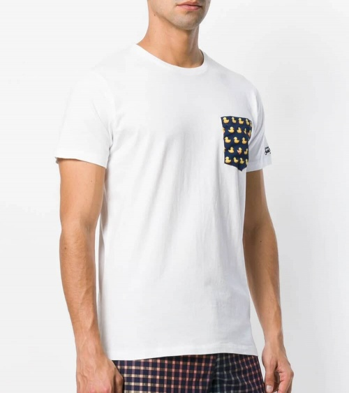 MC2 Saint Barth Camiseta Blanca Duck modelo