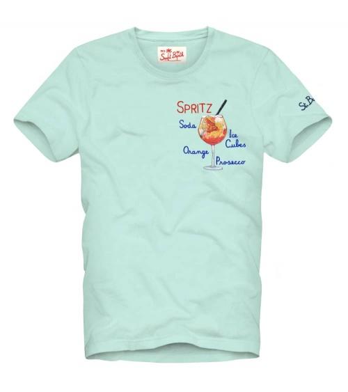 MC2 Saint Barth Camiseta Celeste Spritz