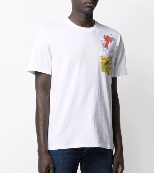 MC2 Saint Barth Camiseta Blanca Donald Gold modelo