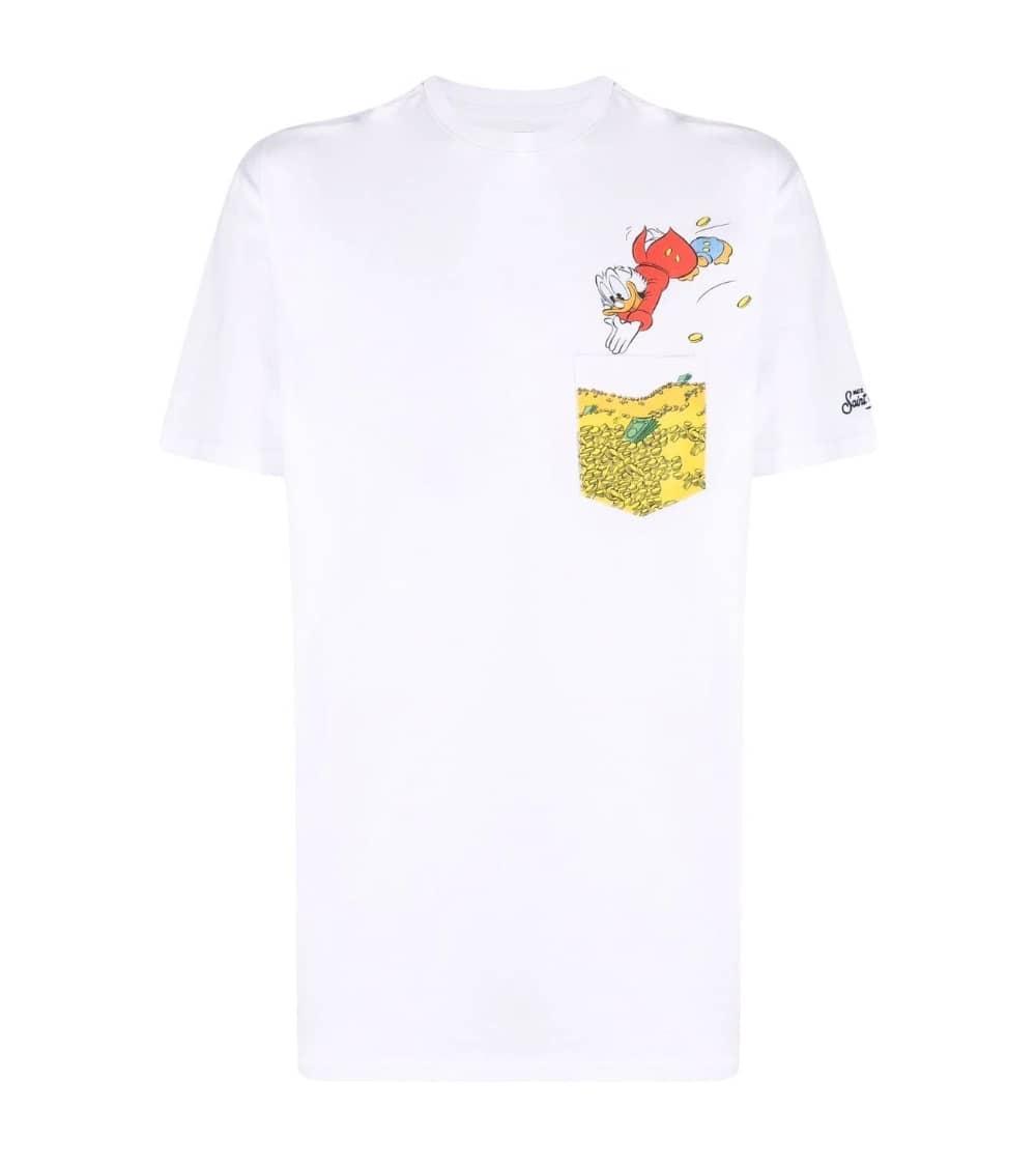 MC2 Saint Barth Camiseta Blanca Donald Gold