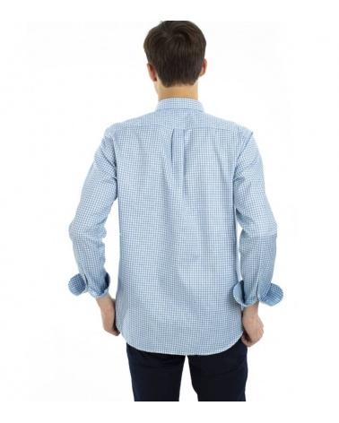 Harmont & Blaine Camisa Vichy Turquesa espalda