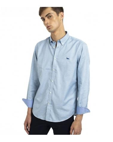 Harmont & Blaine Camisa Vichy Turquesa