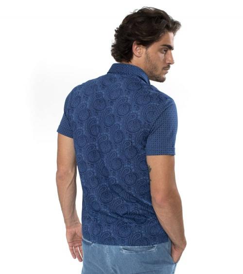 Harmont & Blaine Polo Blue Sample espalda