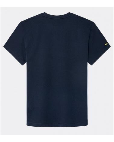 Hackett London Camiseta Marino Logo Amarillo detrás