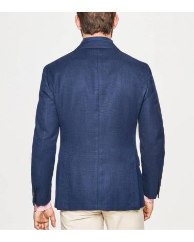 Hackett London Americana Azul Frontal Desmontable espalda