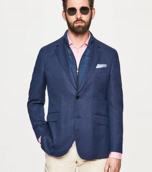 Hackett London Americana Azul Frontal Desmontable modelo