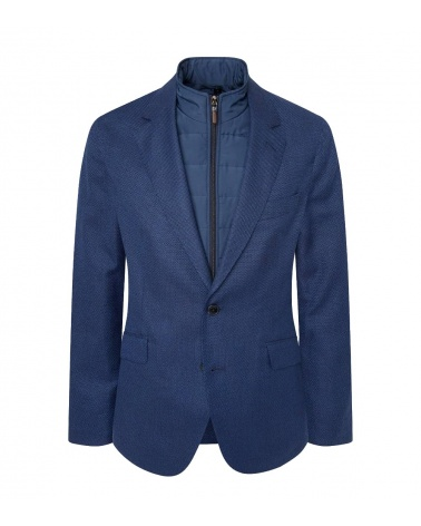 Hackett London Americana Azul Frontal Desmontable