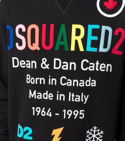Dsquared2 Sudadera Letrero Multicolor detalle