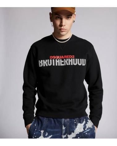 Dsquared2 Sudadera Negra Brotherhood modelo
