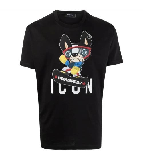 Dsquared2 Camiseta Negra Icon Bulldog