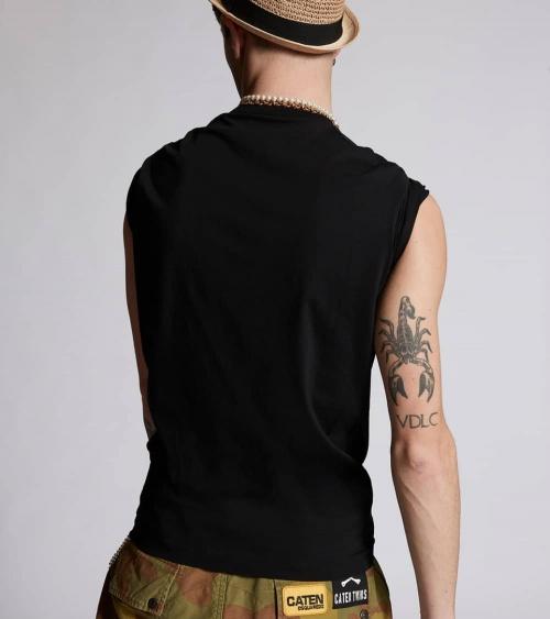 Dsquared2 Camiseta Icon Negro espalda