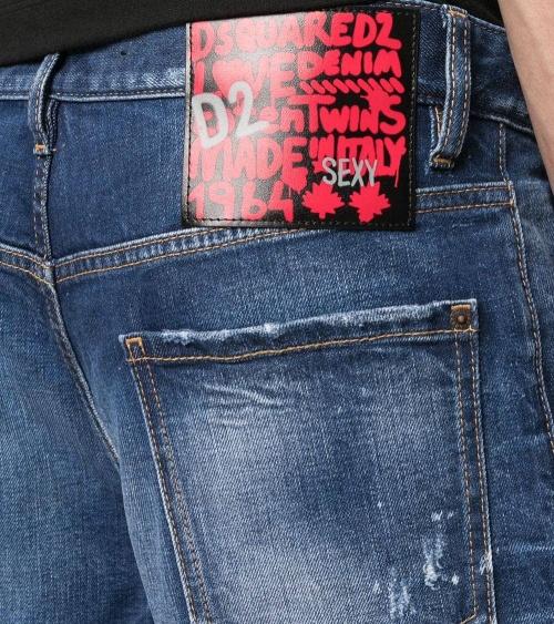 Dsquared2 Bermuda Jeans Etiqueta Sexy detalle