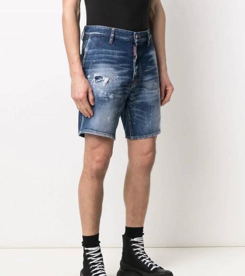 Dsquared2 Bermuda Jeans Etiqueta Sexy modelo