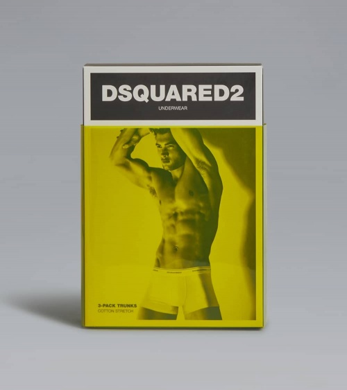 Dsquared2 Boxer Black White caja detrás