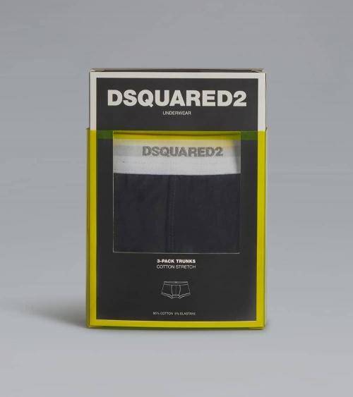 Dsquared2 Boxer Black White caja