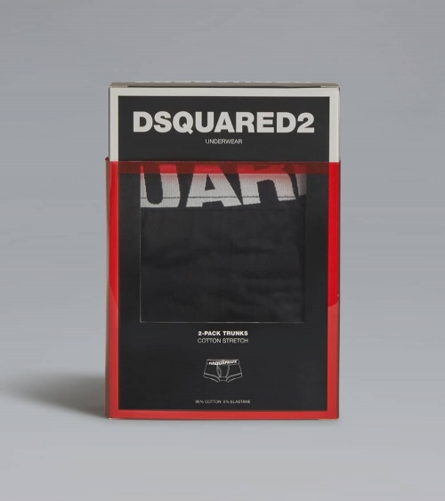 Dsquared2 Boxer Black Black caja