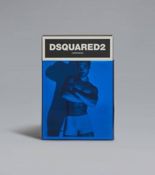 Dsquared2 Boxer Black Grey caja detrás