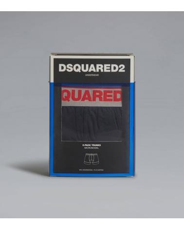 Dsquared2 Boxer Black Grey caja