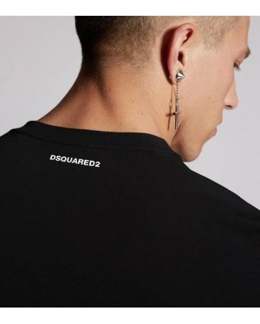 Dsquared2 Camiseta Basic Negra detalle