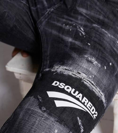 Dsquared2 Jeans Black Logo Lines detalle