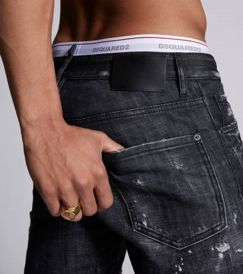 Dsquared2 Jeans Black Logo Lines bolsillo