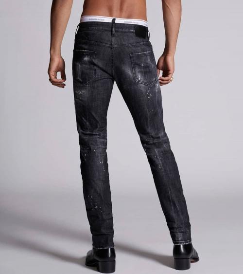 Dsquared2 Jeans Black Logo Lines detrás