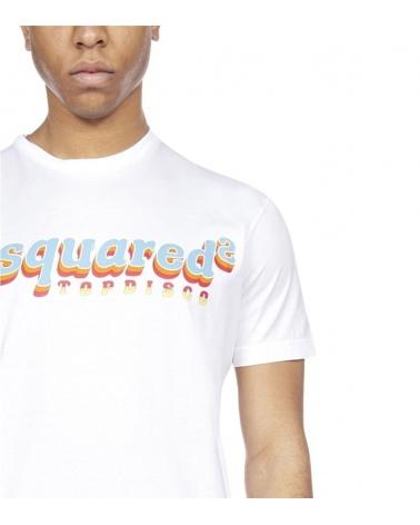Dsquared2 Camiseta Disco blanca detalle