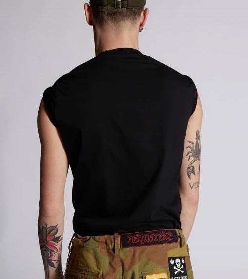 Dsquared2 Camiseta Black Brotherhood espalda