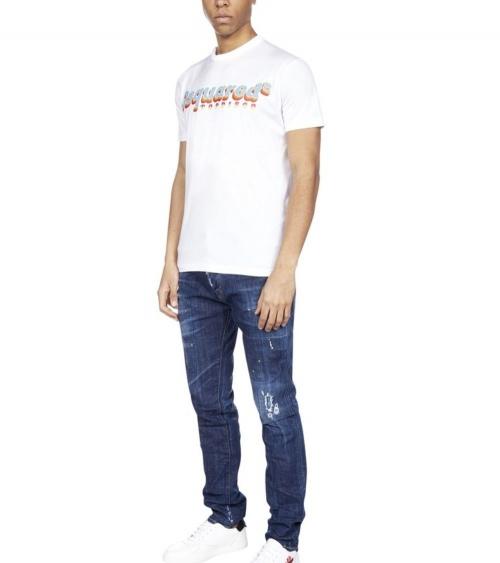 Dsquared2 Camiseta Disco blanca modelo