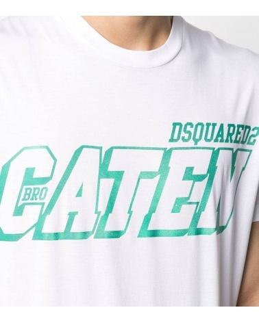 Dsquared2 Camiseta Caten White detalle