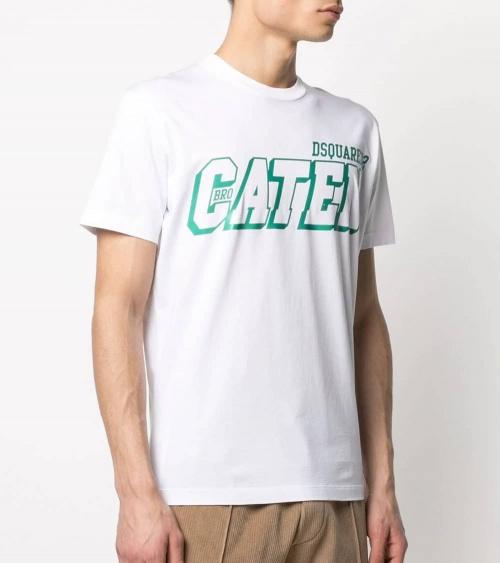 Dsquared2 Camiseta Caten White modelo