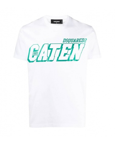 Dsquared2 Camiseta Caten White