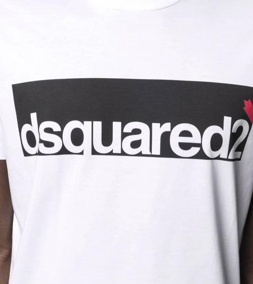Dsquared2 Camiseta Contrast Logo detalle