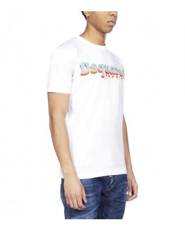 Dsquared2 Camiseta Disco blanca lateral