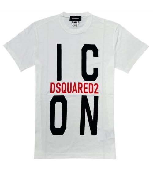 Dsquared2 Camiseta Big Icon Blanca
