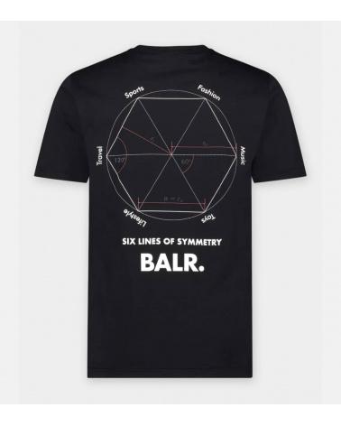 BALR Camiseta Symetry Black espalda