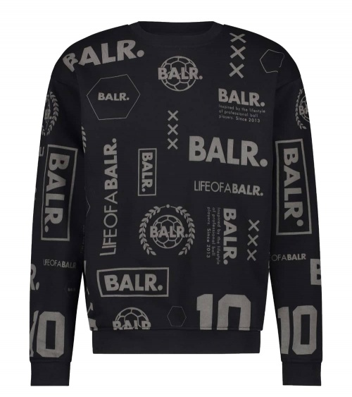 BALR Sudadera Black Multilogo
