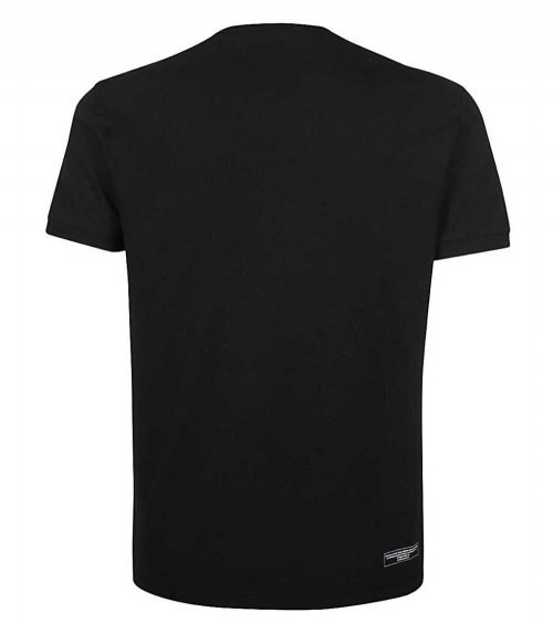 Dsquared2 Camiseta Bruce Lee Black  detrás