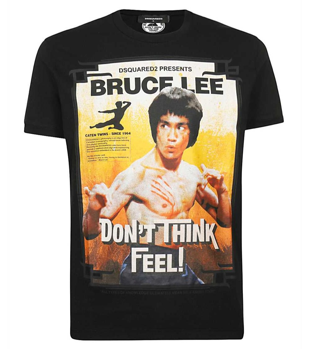 Dsquared2 Camiseta Bruce Lee Black
