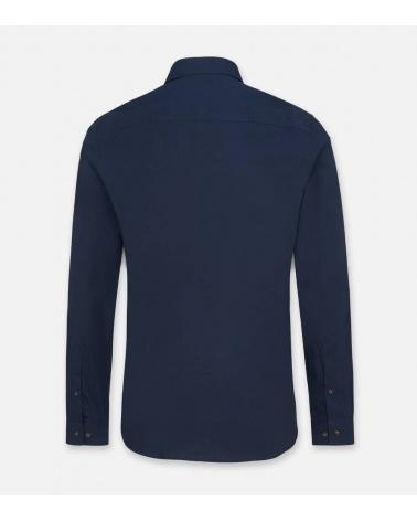 Hackett London Camisa Pockets Navy espalda