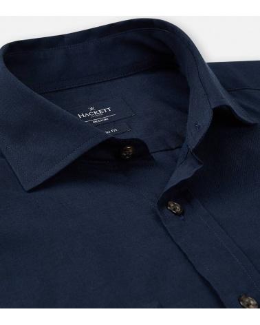 Hackett London Camisa Pockets Navy cuello