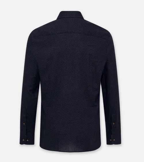 Hackett London Camisa Mini Flowers Navy espalda