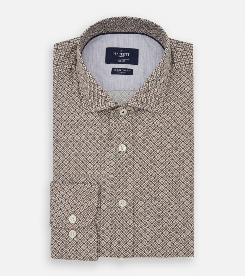 Hackett London Camisa Foulard Brown plegada