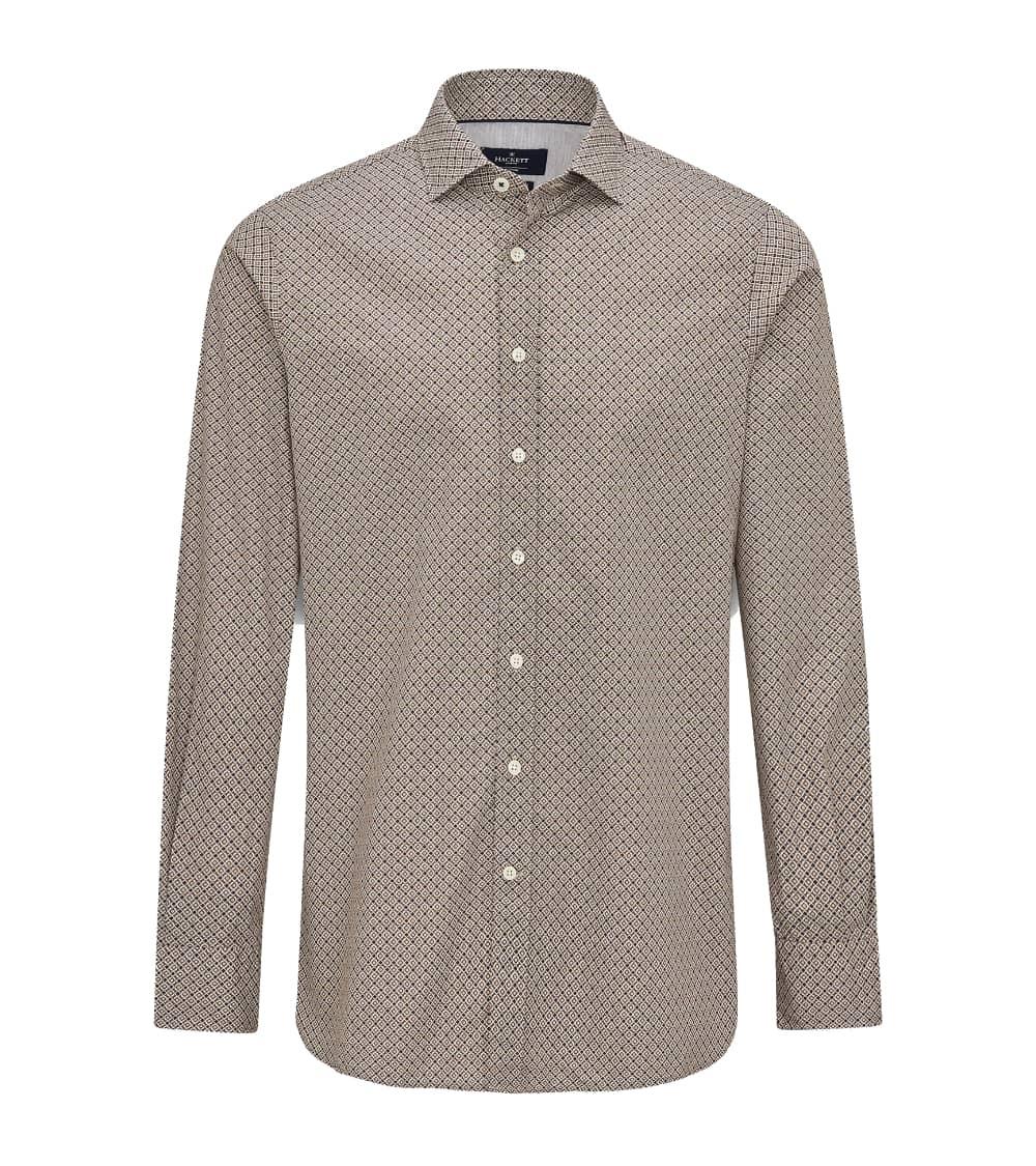Hackett London Camisa Foulard Brown