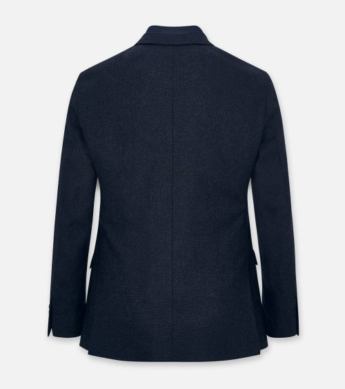 Hackett London Americana Cashmere Blue espalda